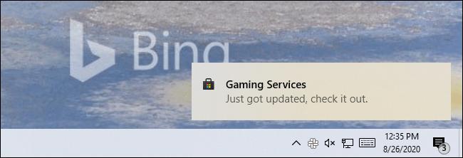 Eine Store-Benachrichtigung unter Windows 10 mit einer App