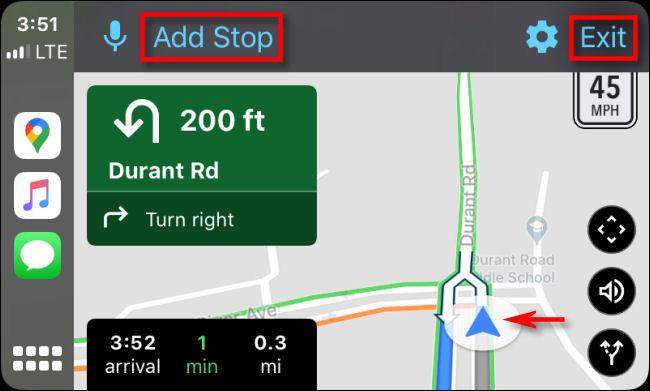 Suivez les instructions détaillées dans Google Maps sur CarPlay via iPhone.