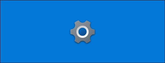 La nouvelle icône Paramètres sur l'écran de démarrage de l'application dans la mise à jour 21H1 de Windows 10.