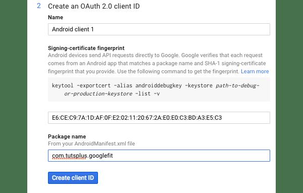 Création d'un ID client OAuth 20