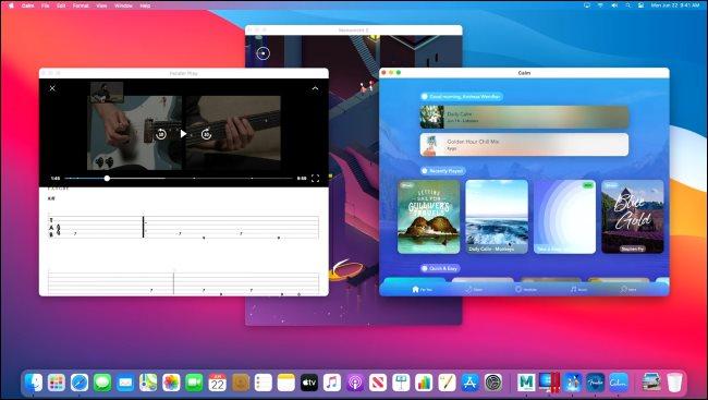 Verschiedene iPhone- und iPad-Anwendungen, die auf einem Mac mit Apple Silicon ausgeführt werden.