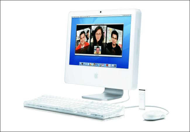 Un iMac Apple début 2006 avec un processeur Intel.