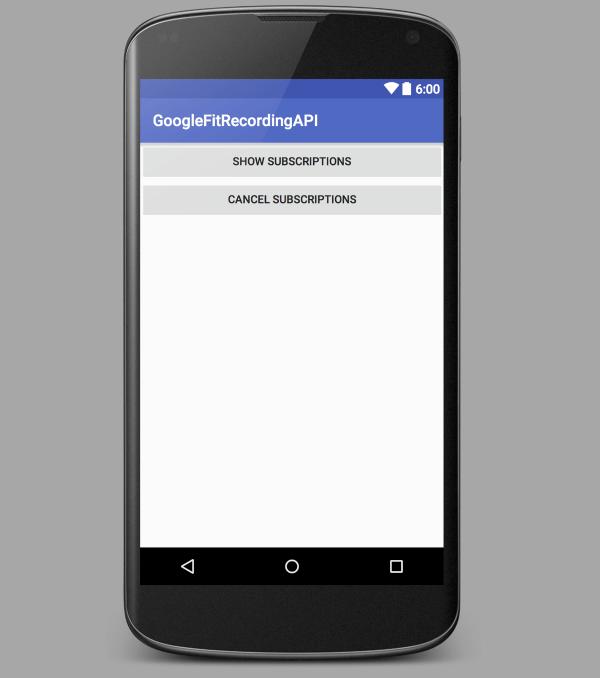 Interfaz de usuario simple para la aplicación de tutorial de grabación API