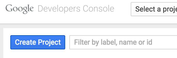 Créer un bouton de projet sur Google Cloud Platform