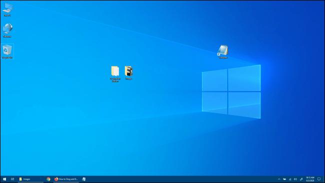 Windows 10-Desktop ohne Windows-App