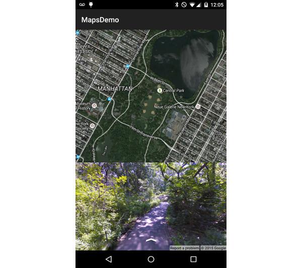 Emplacement de Street View modifié par onMapLongClickLatLng latLng