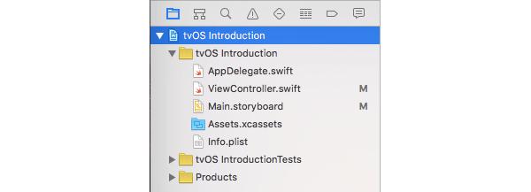 Structure de l'application tvOS