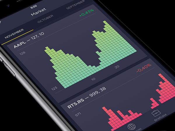 Concept de conception d'applications de stocks