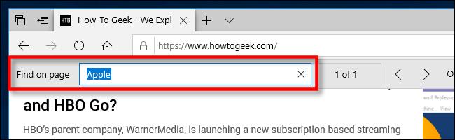 Suche als Seite in Edge auf dem PC