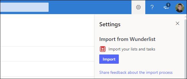 So importieren Sie Wunderlist-Daten in Microsoft To Do im Web