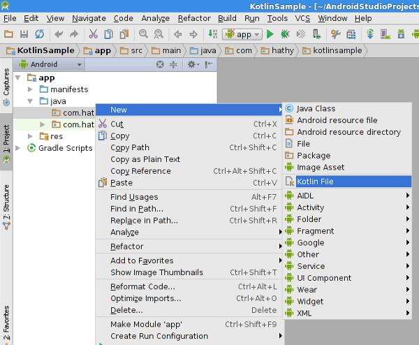 Nouveau fichier Kotlin