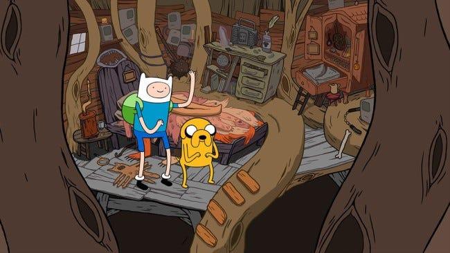 Finn in seinem Zimmer.