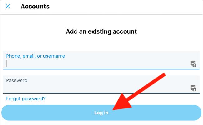 Geben Sie Ihre Kontoanmeldeinformationen ein und klicken Sie auf die Schaltfläche
