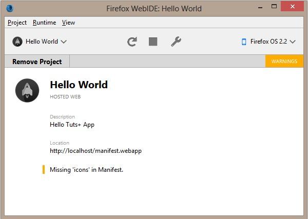 Anwendung über WebIDE installiert