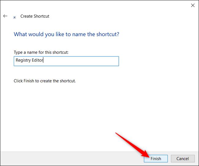 Geben Sie einen Namen für Ihre Verknüpfung in das Textfeld ein und klicken Sie auf