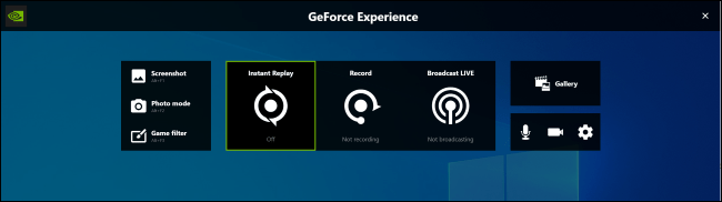 Superposition GeForce Experience sur Windows 10