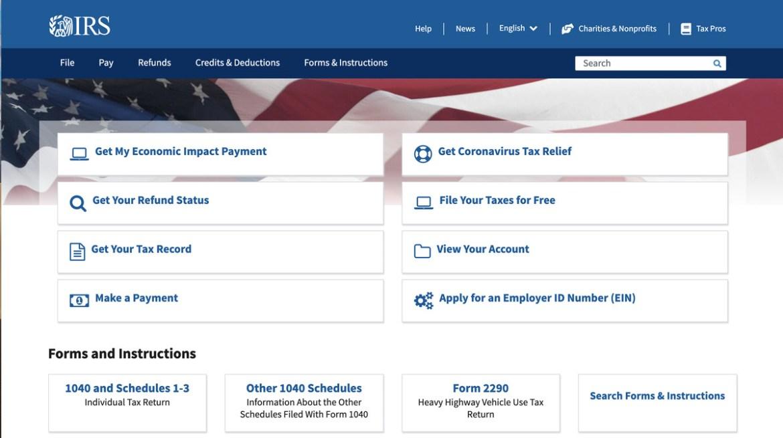 Votre premier arrêt: IRS.gov