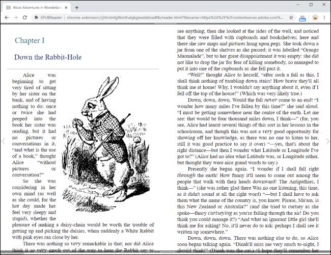 Lesen Sie eine EPUB-Datei direkt in Google Chrome.