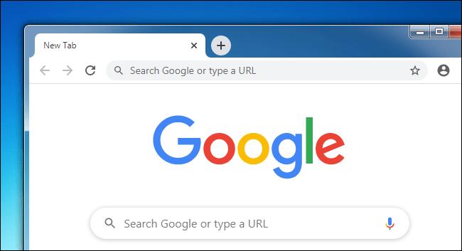 Une fenêtre Google Chrome sur un bureau Windows 7.