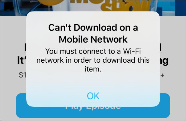 Download auf Zellenalarm nicht möglich