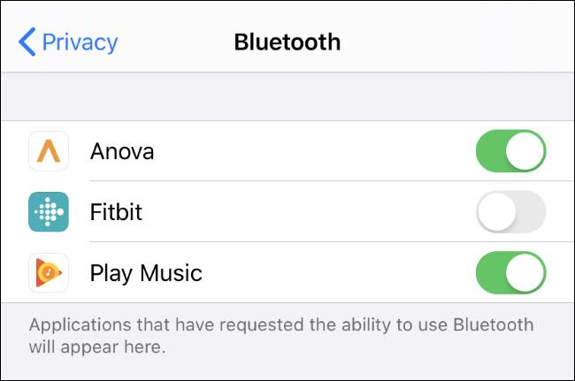 Sehen und steuern Sie, welche Apps Bluetooth auf einem iPhone oder iPad verwenden können.