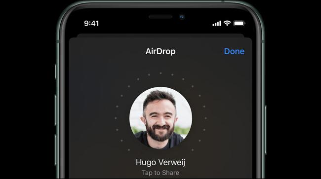 AirDrop auf einem iPhone 11 Pro.