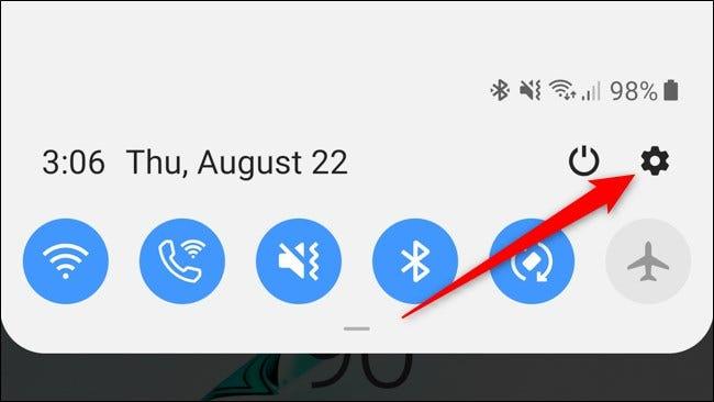 Symbol für die Schatteneinstellungen der Benachrichtigung für das Samsung Galaxy Note 10 Plus