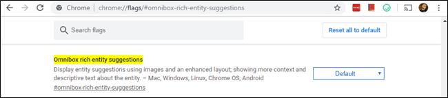 Chrome Omnibox Rich Entity Suggestion Indicator