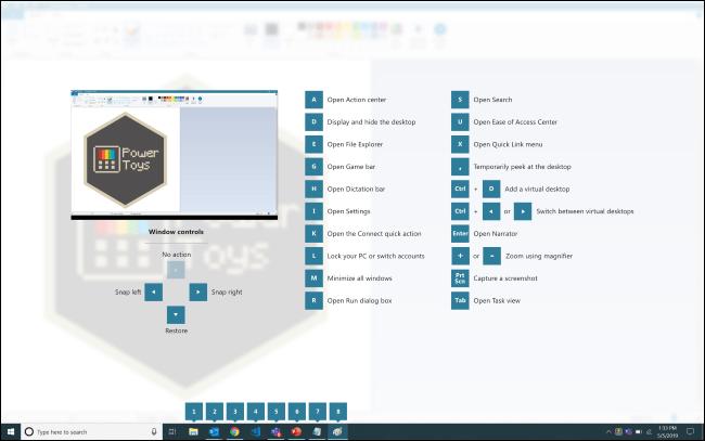 Guía de atajos de teclado de PowerToy Windows