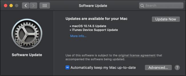 Installer les mises à jour macOS