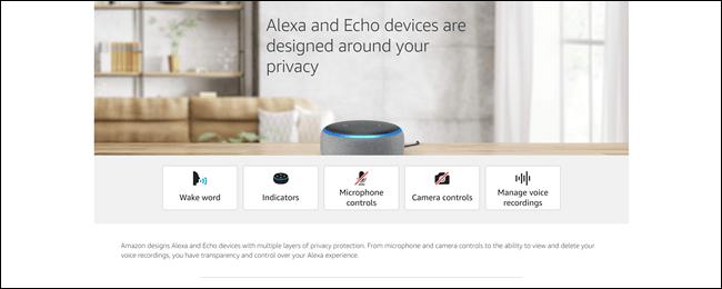 Alexas Datenschutz-Hub mit Informationen zu Weckrufen, Anzeigen und vielem mehr.
