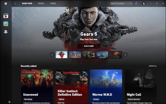 Xbox Game Pass avec le jeu Gears 5.