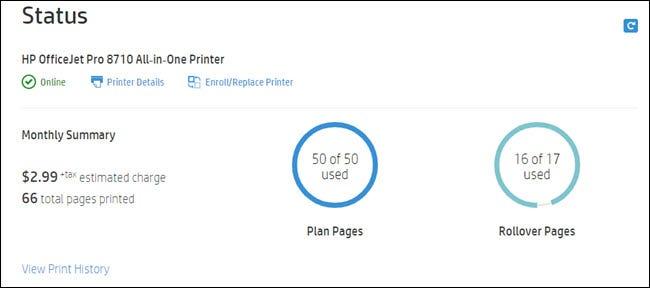 Résumé du plan montrant les pages actuelles et les pages de report utilisées