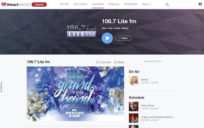 Stations Web Radio utiles 1067 Lite Fm