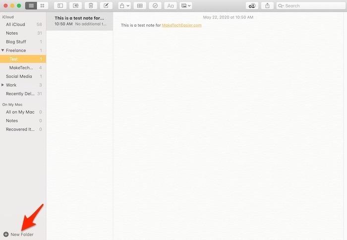 Prise en main Notes Mac Full Shot Arrow