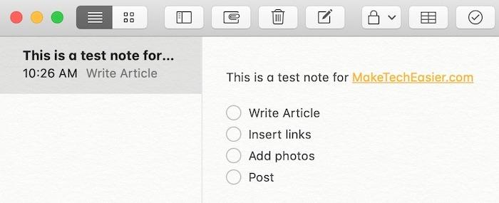 Liste de contrôle pour Mac de Notes de démarrage