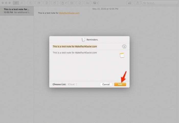 Prise en main Notes Mac Share Final