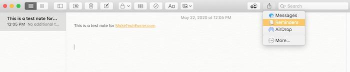 Premiers pas Notes Rappels de notes Mac