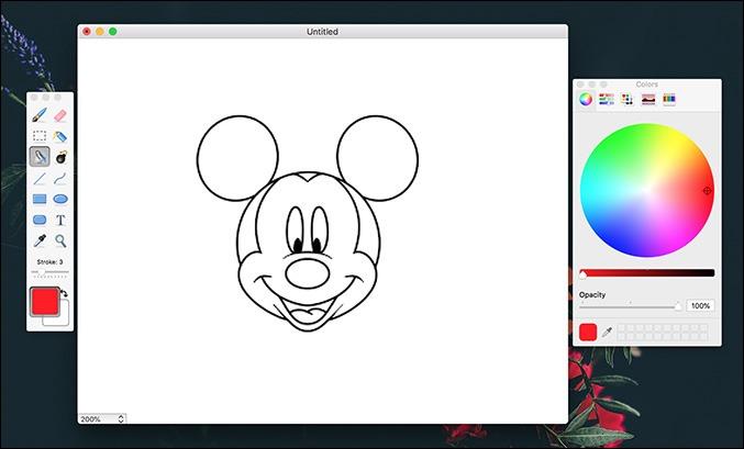Applications de dessin simples Mac Paintbrush