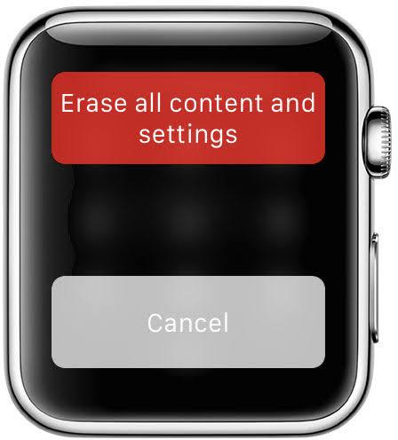 Changer les paramètres d'effacement de l'Apple Watch Iphone