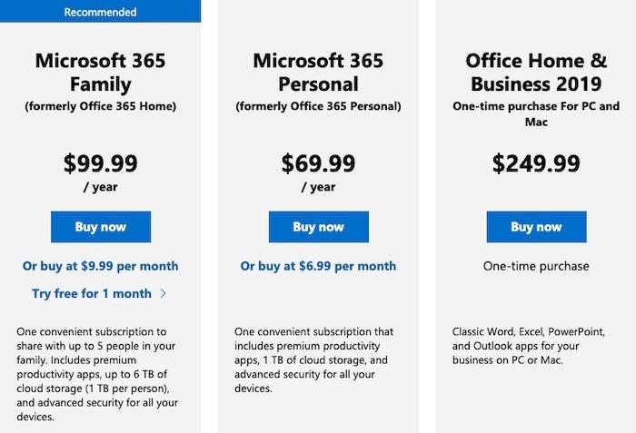 Qu'est-ce que la tarification personnelle de Microsoft 365