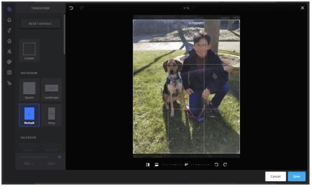 modifier une photo Instagram dans Moyens I/O Compose