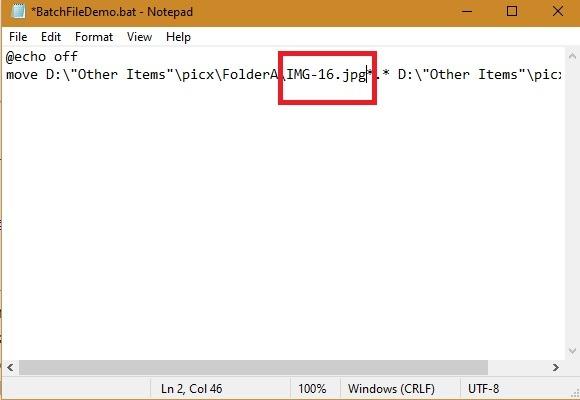 Fichiers batch Win10 Déplacer un fichier 1