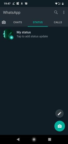 Activer le mode sombre Whatsapp