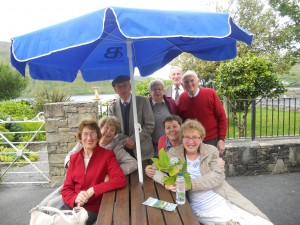 Members of the Moy Valley Over 55 club on a day trip to Kylemore Abbey in July 2016.