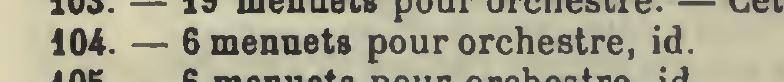 Catalogo Wyzewa - de Saint-Foix, K.104, 6 Minuetti per orchestra