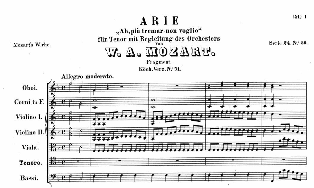 K.71 «Ah, più tremar non voglio» (I don't want to tremble anymore)