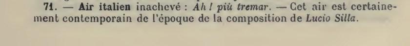 """Catalogo Wyzewa - de Saint-Foix, K.71, """"Ah, più tremar non voglio"""", Aria per tenore"""