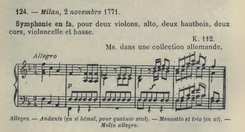 Catalogo Wyzewa - de Saint-Foix 125, K 112, sinfonia in fa maggiore