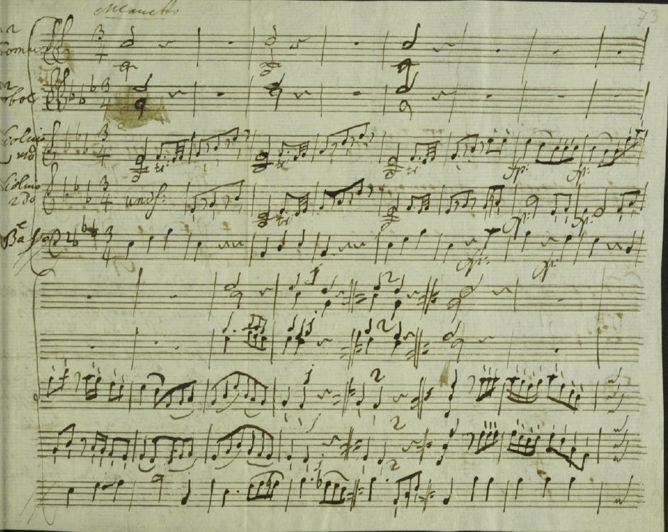 K 122 Minuetto per orchestra